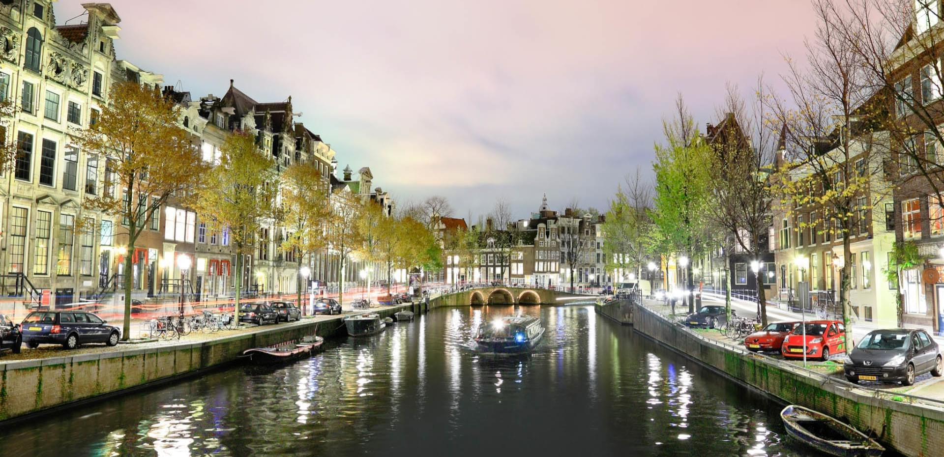 Amsterdam canal background